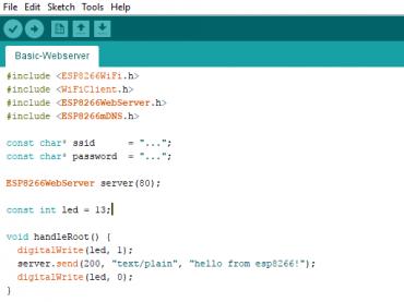 Basic Webserver ด้วย ESP8266