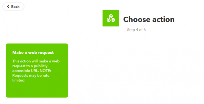 เลือกสร้าง web request เพื่อให้มันเรียก url ปิดไฟของเรา