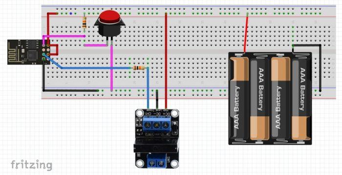การต่อวงจร ESP-01 กับ Solid State Relay module